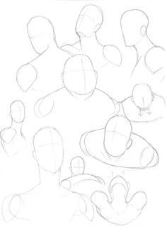 Heads and Shoulders by The-G on DeviantArt Doodle Drawings, Drawing Sketches, Sketching, Drawing Lessons, Art Lessons, Learn To Sketch, Figure Drawing Reference, Design Reference, Art Tutorials