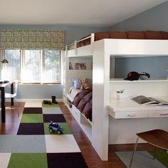 modern bunk beds flor tiles