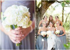 Gray Long Bridesmaid Dresses