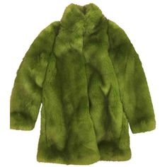 Faux fur coat ZARA ($82) ❤ liked on Polyvore featuring outerwear, coats, jackets, green faux fur coat, faux fur coat, imitation fur coats, fake fur coat and green coat