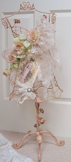 shabby chic dress form
