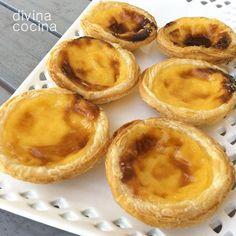 receta de pasteles de belem Mini Desserts, Muffin, Pie, Pudding, Breakfast, Sweet, Food, Cup Cakes, Portugal