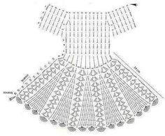 Pattern crochet dress