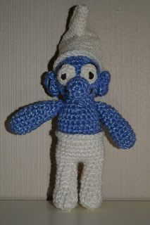 Glittering smurf - blue and white