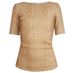 DROMe $1,160 laser cut leather cable knit pattern shirt AW13 fitted top sz.S NEW #DROMe #LeatherTop #EveningOccasion