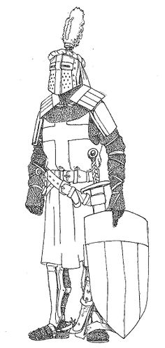 Free Knight Coloring Page