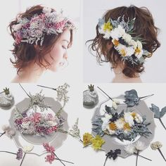 fiore lilla...aco (@aco_wedding.lilla) • Ảnh và video trên Instagram Flower Hair Accessories, Bridal Accessories, Updo Styles, Hair Styles, Bridal Hair Ornaments, Flower Makeup, Flower Crown Wedding, Bride Hairstyles, Hair Comb