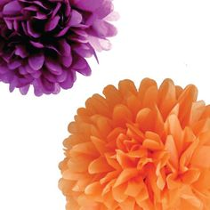 Tissue paper flowers, use as decorations for the reception instead of the real thing.