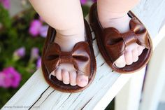Use an existing pair of baby shoes to make the pattern for these cute DIY Baby Sandals.