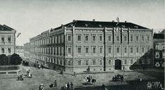 A soproni állami Széchenyi István reáliskola épülete Hauser Károly tanár festménye után – 1896