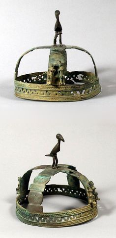 Mali | Crown (chief's regalia) from the Dogon people | Brass or copper alloy | 16th - 19th century