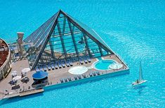 Another look at worlds largest pool at San Alfonso del Mar in Algarrobo, Chile. You can kayak, scuba dive and relax in this 19 acre pool that reaches 115' deep - unreal!