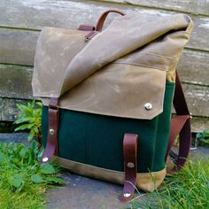 WoolyBison Wool and Waxed Canvas Backpack Canvas Backpack 9fe7611e97fec
