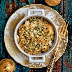Seafood Gratin...use GF flour and breadcrumbs