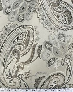 Dahlia Silver (Code DAASIR) $10US yard med weigh upholstery polyester Jacquard, black ivory taupe light silver for upholstery duvet drapes