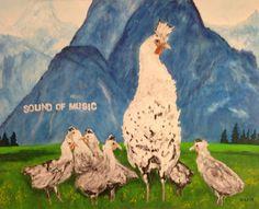 "HEINZ STRAHL ""Sound of Music"" Oil on Canvas 32"" x 40"""