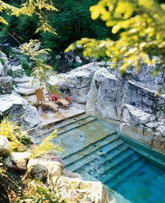 Quarry Swimming Pool Berkshires of Massachusetts - Aqua Pool And Patio   Honest Buildings