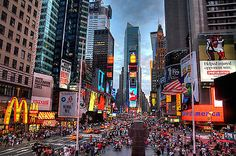 Mcdonalds #times square new york city #canvas #picture usa busy road wall art pri,  View more on the LINK: http://www.zeppy.io/product/gb/2/181774083586/