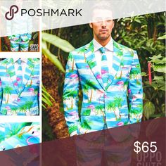 Opposuit. Flamingos. 3 piece suit. Oh my goodness, this is amazing! Opposuit Flamingos. NWT. Have size 38 jacket and size 40 pants, with matching tie. Bundle and save. Make me an offer. 3 piece includes, jacket, pants and tie. OppoSuits Suits & Blazers Suits