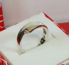 Vintage Ringe - 16,6 mm Schlichter Ring Silber 925 Vintage SR620 - ein Designerstück von Atelier-Regina bei DaWanda