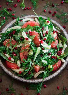 Pickled Fennel Citrus Salad by runningtothekitchen #Salad #Fennel #Citrus