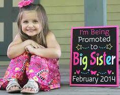 big sister announcement-so cute!