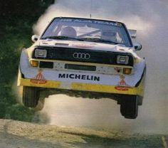 audi quatro sport – 1985 – walter rohrl – rally of san remo - New Sites Automobile, Audi Sport, Car Posters, Rally Car, Car And Driver, Classic Trucks, Audi Quattro, Cars And Motorcycles, Cool Cars