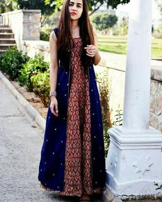 "thing This blue. Is my fav blue …"" Pakistani Dresses, Indian Dresses, Indian Outfits, Ethnic Dress, Indian Ethnic Wear, Ethnic Fashion, Indian Fashion, Casual Dresses, Fashion Dresses"