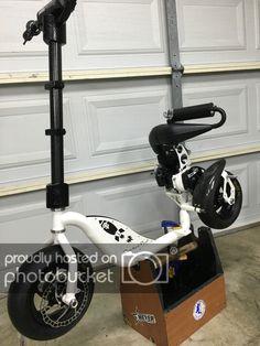 photo by rocketped Custom Trucks, Custom Bikes, Gas Powered Scooters, E Scooter, Moto Bike, Drill, Wheels, Electric, Racing