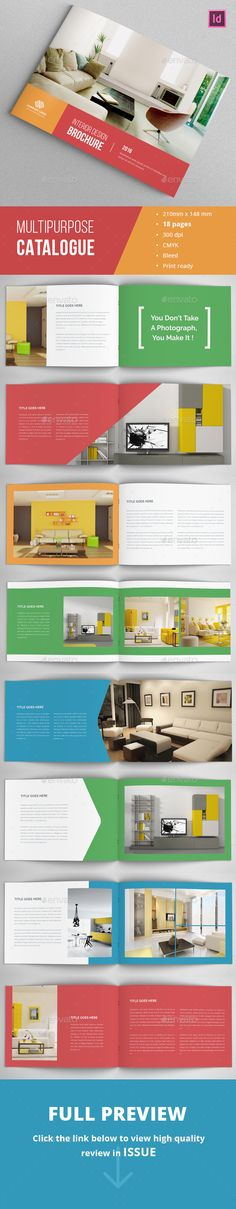 colorful Portfolio Catalogue  #a4 #simple #product • Click here to download ! http://graphicriver.net/item/colorful-portfolio-catalogue/16057735?ref=pxcr