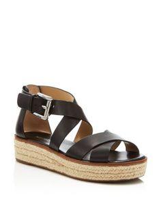 MICHAEL Michael Kors Darby Strappy Espadrille Flatform Sandals | Bloomingdale's