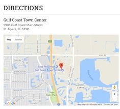Gulf Cost Town Center directions