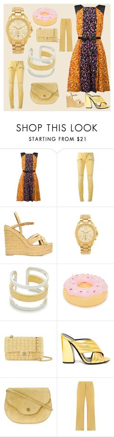 """""""Modalist Cash Back & Offers"""" by justinallison ❤ liked on Polyvore featuring Versace, Balmain, Yves Saint Laurent, Michael Kors, Maya Magal, Sunnylife, Chanel, Gucci, EGREY and dresses"""