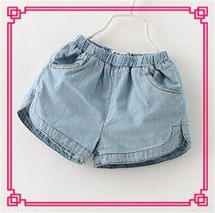 2015 Baby Girls Vintage Denim Shorts Jeans Cute Pocket Design Elastic Waist Shorts Princess Kid Girl Causal Short Pants Online with $9.25/Piece on Smartmart's Store | DHgate.com