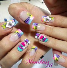 "1,087 Me gusta, 9 comentarios - monika herrera (@monikas28) en Instagram: ""#nails #nail #fashion #style #cute #beauty #beautiful #instagood #pretty #girl #girls #stylish…"" Crazy Nail Art, Crazy Nails, Cute Nail Art, Cute Nails, Wow Nails, Magic Nails, French Tip Nails, Toe Nail Designs, Stylish Nails"