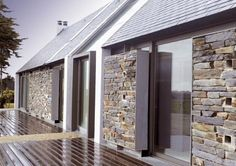 Interesting contemporary use of stone? House in Belle-ile-en-Mer, by OPUS 5 architectes.