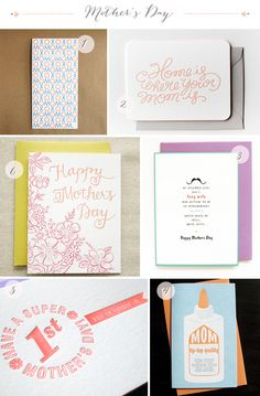Today we're sharing the best Mother's Day Cards for 2013! Part 1: Egg Press, Moglea, Mr. Boddington's Studio, Anemone Letterpress, Farewell Paperie, Parrott Design Studio