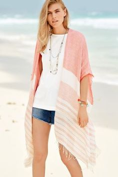 The coral cover up is a MUST for your summer wardrobe, whether you rock it on the beach or for those chilly evening walks. Next Fashion, Women's Fashion, Summer Wardrobe, Jeans Fit, Dress Outfits, Dresses, Festival Fashion, Walks, Fashion Inspiration