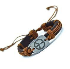 42ade4dc00d9 Der Spielzeugtester hat das Peace Symbol Leder Armband angeschaut und  empfiehlt es hier im Shop.