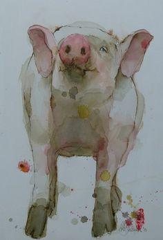 "Artist Marie-helene Stokkink  Painting, ""Knorrie"" #art"