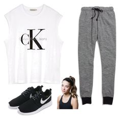 """""""A jog"""" by isabellemartinez21 on Polyvore featuring Calvin Klein, Madewell, NIKE and Titika"""