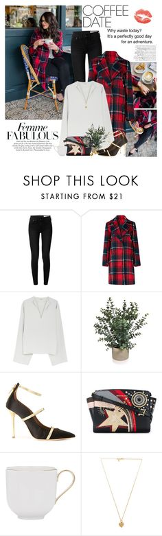 """Buzz-Worthy: Coffee Date"" by martinabb ❤ liked on Polyvore featuring rag & bone, cupcakes and cashmere, Malone Souliers, MICHAEL Michael Kors, KPM, Vanessa Mooney, Lord & Taylor and CoffeeDate"