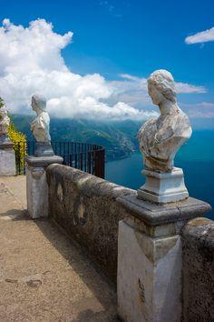 The Terrace of Infinity at Villa Cimbrone. Ravello, Italy