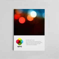 Agno3 Brand Design. The logo references the dots produced by the bokeh effect in photography (the company does film and video production). The dots are used in icons on the company website and help to reinforce the brand.