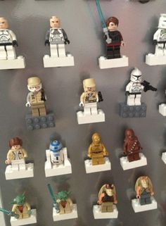 Krazy Glue magnets to white lego bricks. Then use for minifigure storage on magnetic surface.