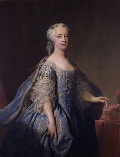 ab. 1738 Jean-Baptiste van Loo - Princess Amelia.  History of fashion in art & photo