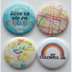 4 badges la vie en couleur