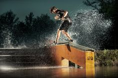 Josh Letchworth, Category Finalist 2010: Illumination - Red Bull Illume: Ben Horan lives in Nahunta, Georgia. Since wakeskating requires a towing device and significant body of water, accessibility can sometimes be a problem. Ben decided to dig his own small pond in his side yard and using a winch to pull him through it.