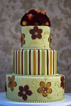 Cake by Fleur de Lisa - different! .........  #wedding #cake #birthday #party