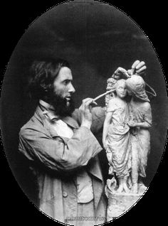 Alexander Munro (summer Taken by Charles Dodgson a. Lewis Carroll Courtesy of Lewis Carroll, Photographer Lewis Carroll, English Writers, Adventures In Wonderland, Through The Looking Glass, Portrait Photography, White Photography, Artist At Work, Sculpture Art, Art Reference